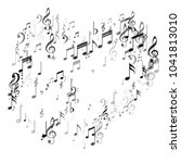 heart of music note signs and... | Shutterstock .eps vector #1041813010