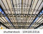 pattern of steel roof framework ... | Shutterstock . vector #1041813316