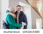 couple of the travellers in... | Shutterstock . vector #1041815380