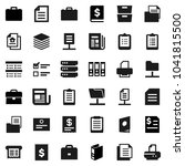 flat vector icon set   case... | Shutterstock .eps vector #1041815500