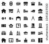 flat vector icon set   school... | Shutterstock .eps vector #1041815530