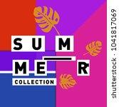 vector geometric memphis summer ... | Shutterstock .eps vector #1041817069