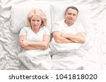 senior couple with problem in... | Shutterstock . vector #1041818020