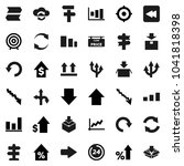 flat vector icon set   graph... | Shutterstock .eps vector #1041818398