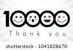 thank you 10000 followers...   Shutterstock .eps vector #1041828670