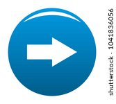 arrow icon blue circle isolated ...