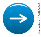 arrow icon blue circle isolated ... | Shutterstock . vector #1041836068