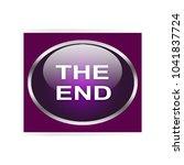 the end internet button... | Shutterstock . vector #1041837724