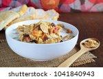 crispy whole wheat flakes... | Shutterstock . vector #1041840943