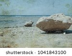 old photo beautiful seashore... | Shutterstock . vector #1041843100