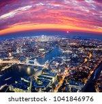 london city sunset  mystic... | Shutterstock . vector #1041846976
