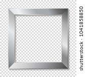 metal frame  isolaterd. | Shutterstock .eps vector #1041858850