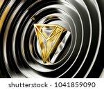 golden tron cryptocurrency... | Shutterstock . vector #1041859090