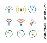 broadcast and wireless mix with ...   Shutterstock .eps vector #1041859690