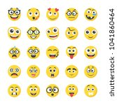 collection of flat icons smileys | Shutterstock .eps vector #1041860464