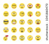 smiley flat icons set   Shutterstock .eps vector #1041860470