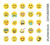 smiley flat icons set | Shutterstock .eps vector #1041860488