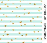 gold heart seamless pattern.... | Shutterstock .eps vector #1041863554