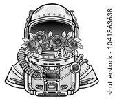 space helmet of the astronaut... | Shutterstock .eps vector #1041863638