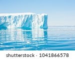 big blue icebergs in the... | Shutterstock . vector #1041866578