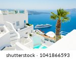 White Architecture On Santorin...