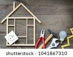house renovation construction... | Shutterstock . vector #1041867310