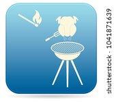 grilled chicken icon. vector... | Shutterstock .eps vector #1041871639