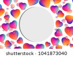 vector texture with hearts on a ... | Shutterstock .eps vector #1041873040