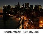 Manhattan Skyline With Traffic