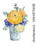 floral elegant card design ... | Shutterstock . vector #1041875608