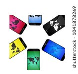mobile screens designs  isolated