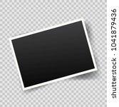 realistic vintage photo frame... | Shutterstock . vector #1041879436