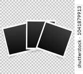 set of template photo frames... | Shutterstock . vector #1041879913
