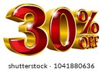 30  off   thirty percent off... | Shutterstock .eps vector #1041880636