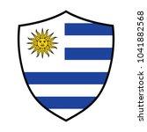 the national flag of uruguay....   Shutterstock .eps vector #1041882568