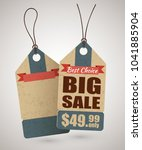 cardboard price tag or big sale ... | Shutterstock . vector #1041885904