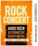 vector illustration rock... | Shutterstock .eps vector #1041886414