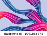 wavy abstraction in pink and... | Shutterstock .eps vector #1041886978