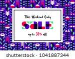 sale banner or flyer on... | Shutterstock .eps vector #1041887344
