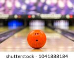 bowling ball ready to roll on a ... | Shutterstock . vector #1041888184
