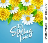 it's spring time background... | Shutterstock .eps vector #1041889279
