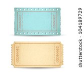 illustration of blank ticket... | Shutterstock .eps vector #104189729