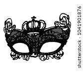black lace carnival mask vector | Shutterstock .eps vector #1041901876