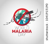 world malaria day logo icon... | Shutterstock .eps vector #1041915190