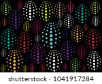various colorful circles on... | Shutterstock .eps vector #1041917284