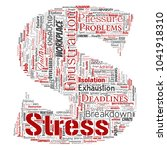 conceptual mental stress at... | Shutterstock . vector #1041918310