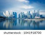 singapore skyline at daytime. | Shutterstock . vector #1041918700