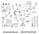 hand drawn of garden themed... | Shutterstock .eps vector #1041926518
