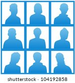the blue silhouettes of a... | Shutterstock .eps vector #104192858