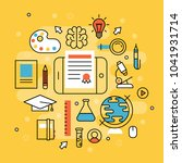 online learning flat design... | Shutterstock .eps vector #1041931714
